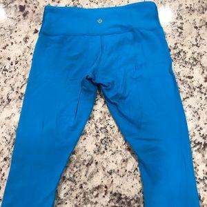 Blue reversible lulu lemon leggings